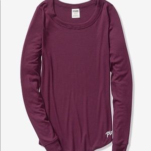 Pink Perfect Long Sleeve Ribbed Tee